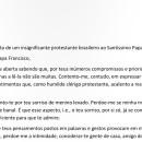 Carta ao Papa Francisco
